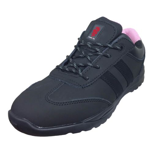 Warrior Ladies Black Safety Trainers